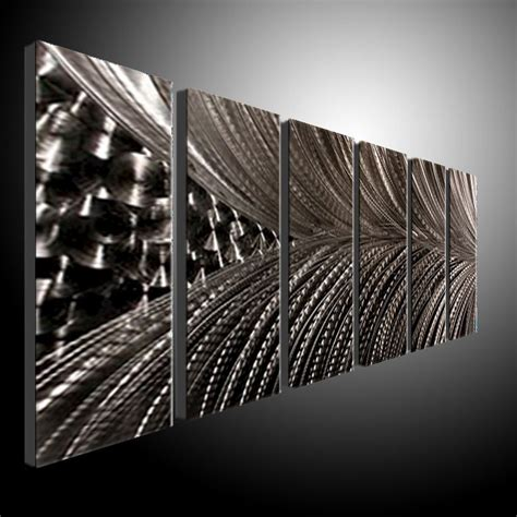 metal wall modern abstract painting sculpture
