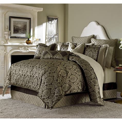 michael amini imperial bronze 9pc queen comforter bedding