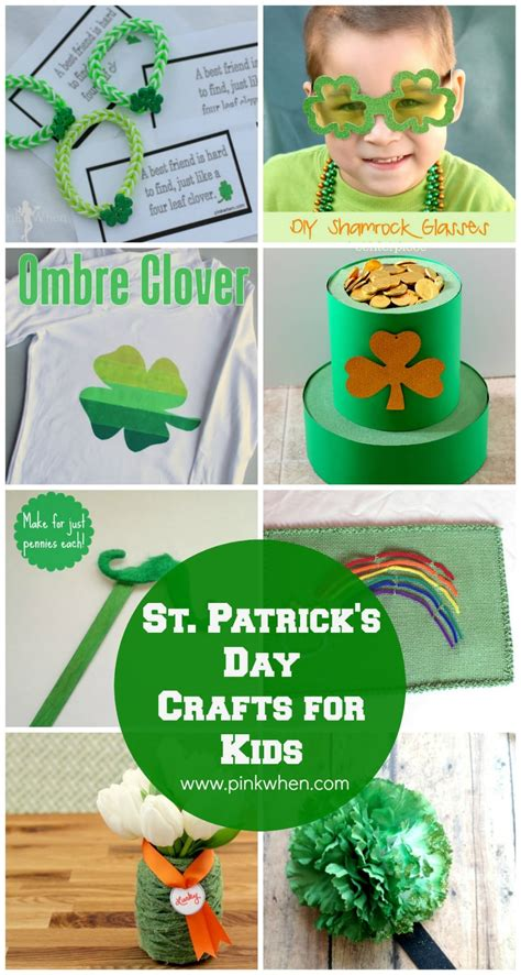 st patricks day kid crafts 10 st s day crafts for pinkwhen