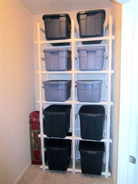 diy storage shelves pvc pipe shelves for the diy er in all of us channeling