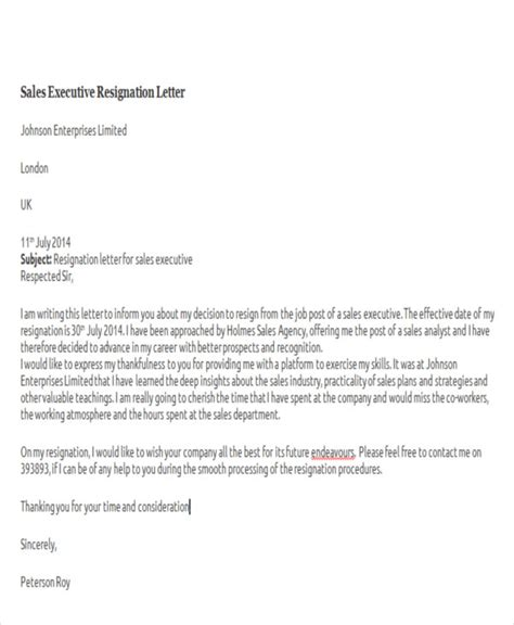 Sales Resignation Letter Sle by Resignation Letter Sles 28 Images Sales Department Resignation Letter Exles Resignation