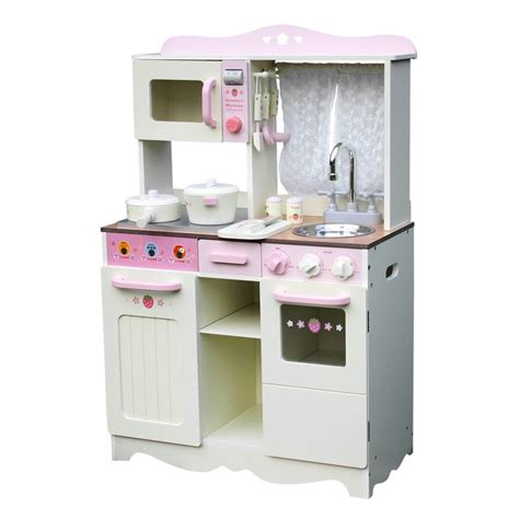 Set Gamis Kyz wooden play kitchen w accessories yellow pink buy