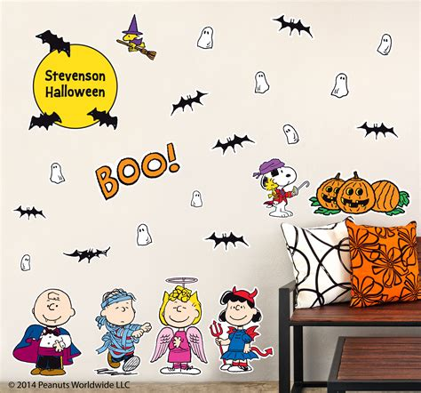 snoopy wall stickers introducing peanuts wall decals at namebubbles