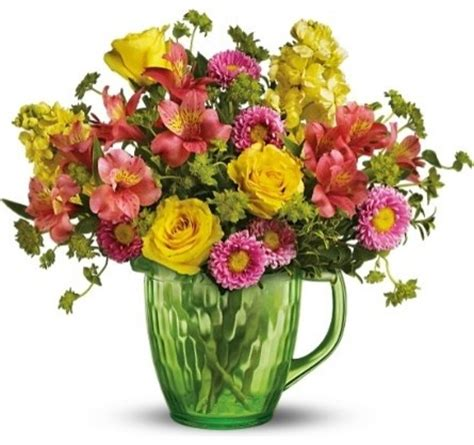Picture Of Flowers In Vase by Green Pitcher Of Flowers Vases Chicago By Winfield