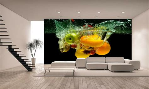fresh fruit  vegetables wall mural photo wallpaper