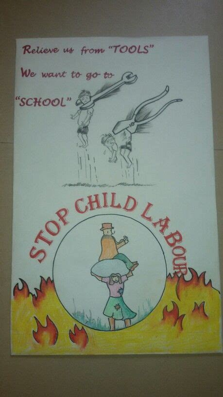 Handmade Poster On Child Labour - child labour handmade posters and crafts