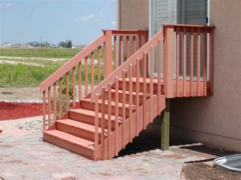 installing handrails on deck stairs composite deck composite deck stair railing