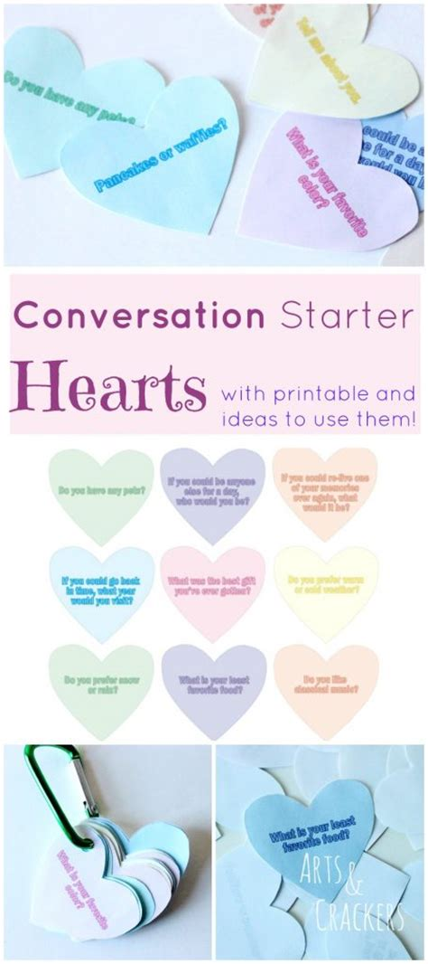 starters for valentines day printable conversation starter hearts