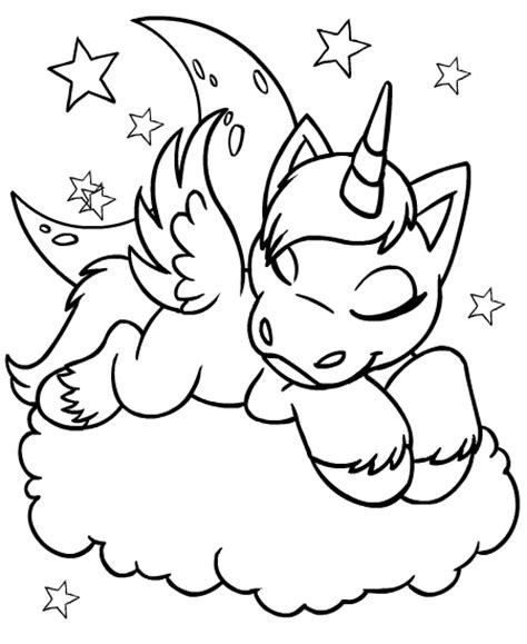 Free Coloring Pages Of Unicorn And Rainbow Printable Printable Unicorn Coloring Pages