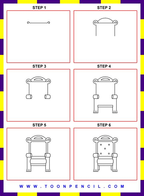 How To Draw A Chair Step By Step by King Chair Drawing