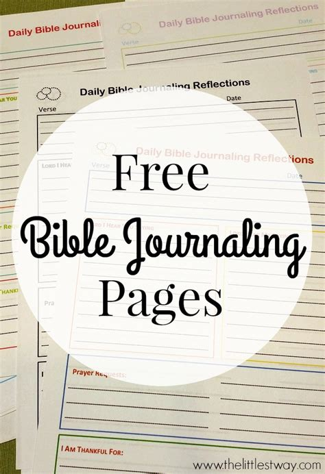 printable bible study journal pages free bible journaling printables the littlest way