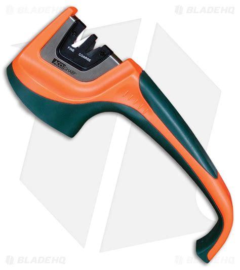 orange knife sharpener accusharp pull through knife sharpener 2 stage green