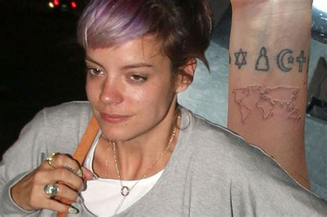 lily allen wrist tattoo allen gets inked at zayn malik and harry styles