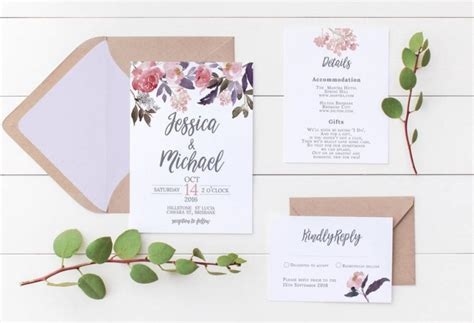 printable wedding invitations floral printable wedding invitation wedding invitations