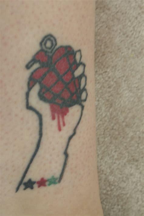 tattoos heart green green day heart grenade tattoo