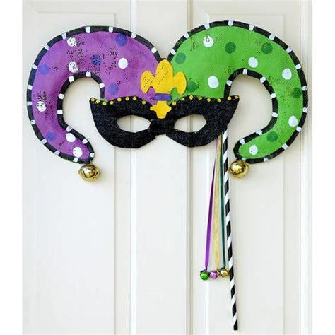 Jester Mask Template by Mardi Gras Jester Mask Door Hanger Screenings Image