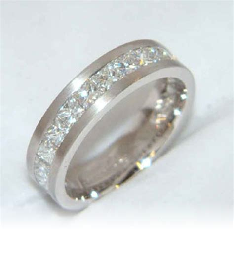 Handmade Gold Rings Uk - handmade 18kt white gold band daniel prince jewellery design