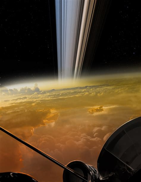pictures on saturn the cassini spacecraft s dive in between saturn s rings