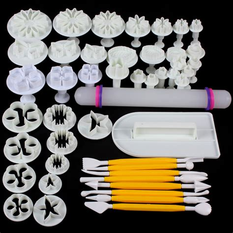 Fondan Set 14 sets 46pcs delicious fondant cake decorating modelling tools set diy sugarcraft cake