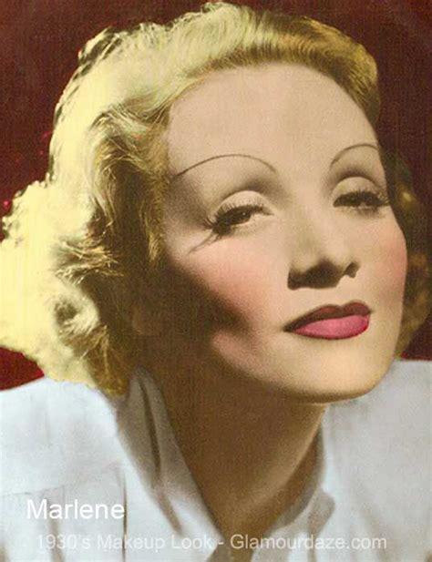 Make Up Marlene marlene dietrich 1930s makeup look 1930s