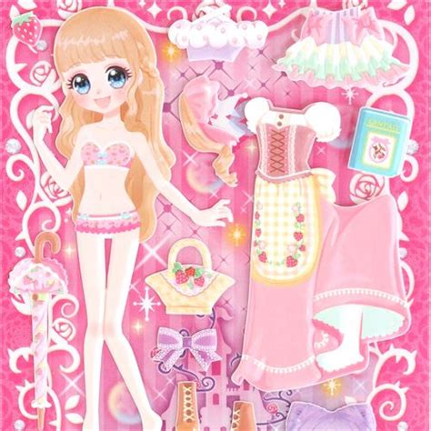 black doll dress up kawaii princess pink green black dress up doll
