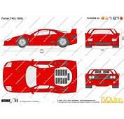 The Blueprintscom  Vector Drawing Ferrari F40