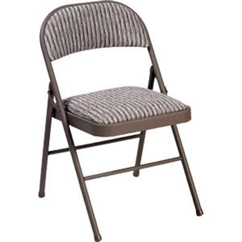 Folding Dining Chairs Padded Uk by Deluxe Padded Steel Fabric Folding Chair Brown