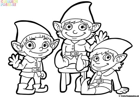 free cute elf coloring pages