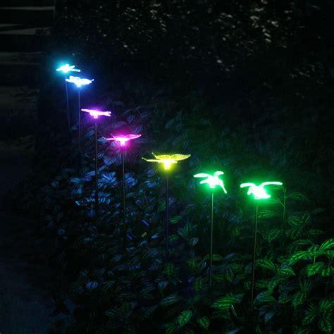 multi colored solar garden lights oxyled solar garden lights 6 pack solar stake light