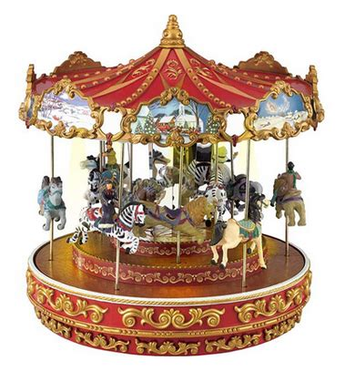 christmas triple decker musical animated carousel 59 99