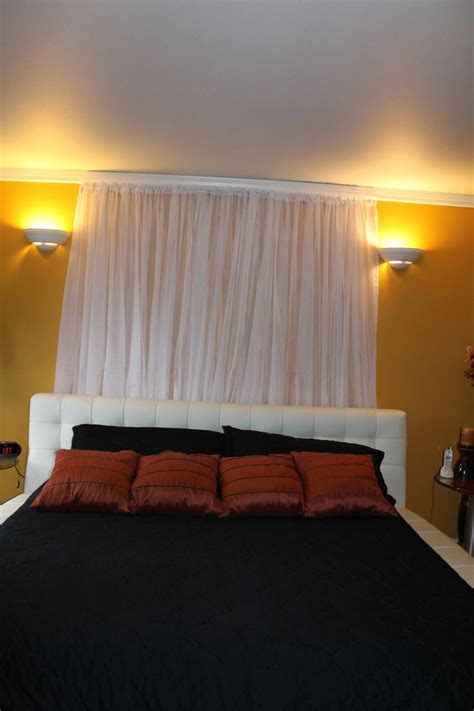 curtains with lights in them best 25 curtain behind headboard ideas on pinterest