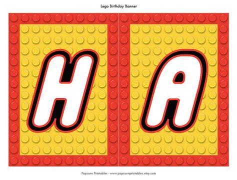 printable lego happy birthday banner 7 best images of lego birthday banner printable free