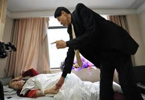 Beijing achinese woman who was certified as the tallest in the world