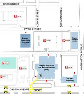 Baylor Dallas Map by Baylor Specialty Hospital