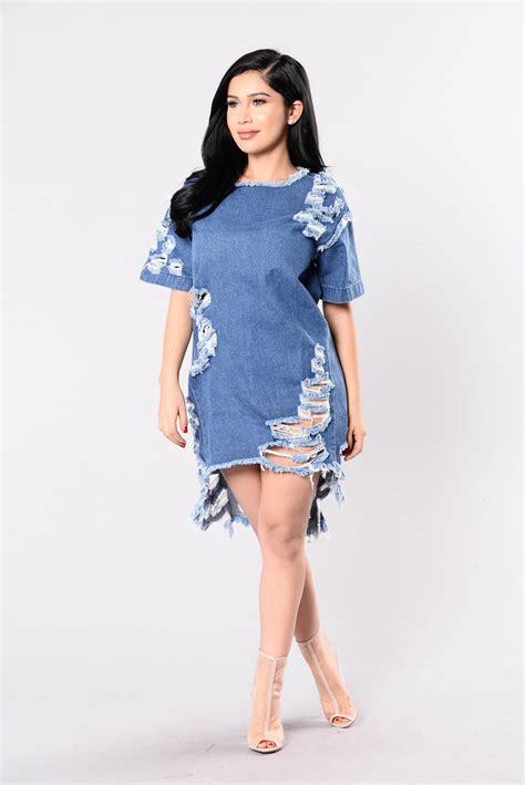 Fashion Wanita Pakaian Dress Denim dress medium