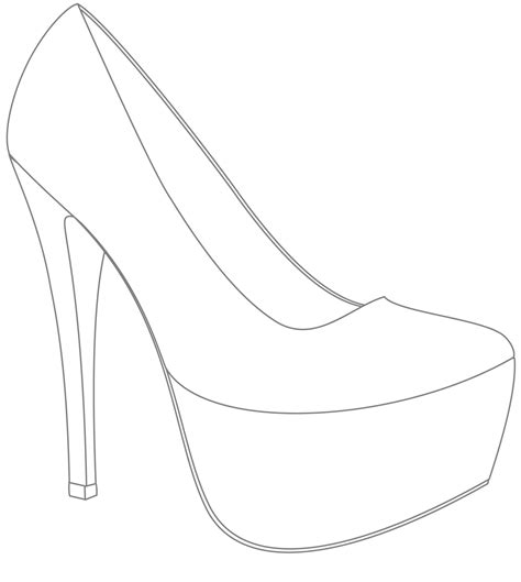 High Heel Shoes Outline by Template For Shoes Design Win Your Wedding Shoes With If 183 Rock N Roll Books