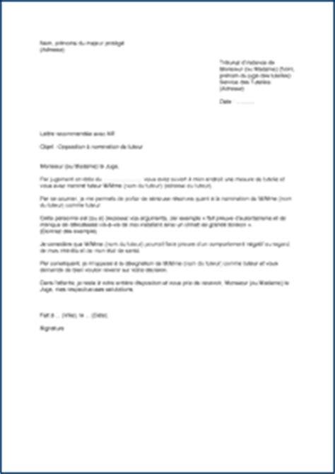 Demande De Nomination Lettre Opposition 224 La Demande D Un Tiers De Devenir Tuteur 2