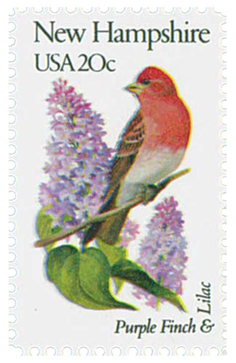 1982 20c new hshire state bird flower for sale at