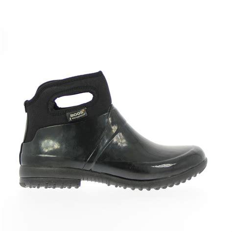 waterproof ankle boots bogs seattle solid size 6 black waterproof rubber