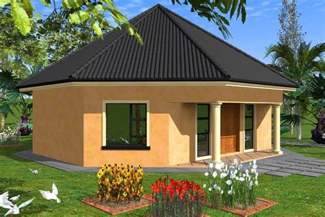 A Aaahouse Plan No W1841 House Thatched House And