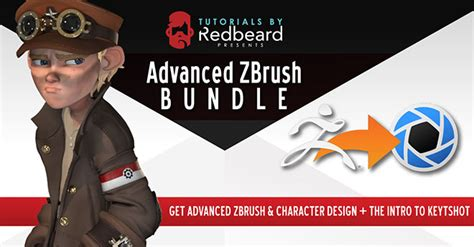 zbrush tutorial advanced advanced zbrush intro to keyshot bundle by the redbeard