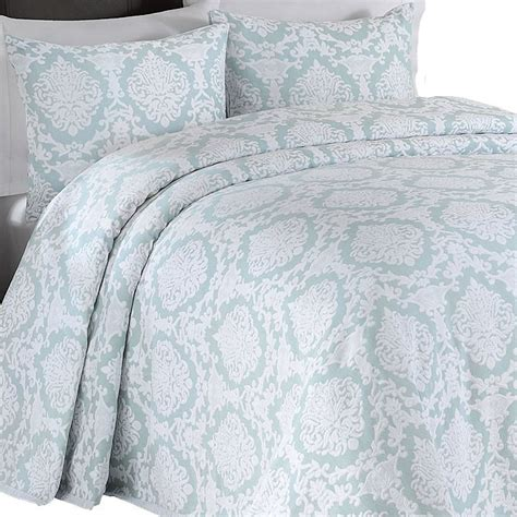 Blue Coverlet Matelasse Bedspreads Bedding Decoration Bedspreadss