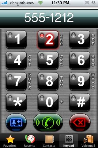 iphone keypad themes iphone dialer themes