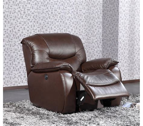 Brown Leather Lounge Chair by Dreamfurniture E9022 Modern Brown Leather Lounge Chair