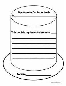 Black Hat Review Template by My Favorite Dr Seuss Book Writing Sheet Teaching Dr
