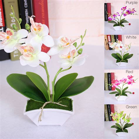 Flower Overall Inner One Set artificial butterfly orchid simulation flower set with real touch leaves artificial plants