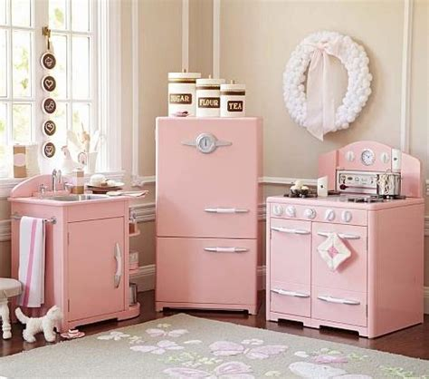 pottery barn kitchen furniture pink retro kitchen collection pottery barn kids