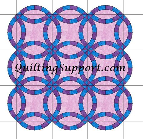 Quilting Wedding Ring Design by Wedding Ring Quilt Patterns