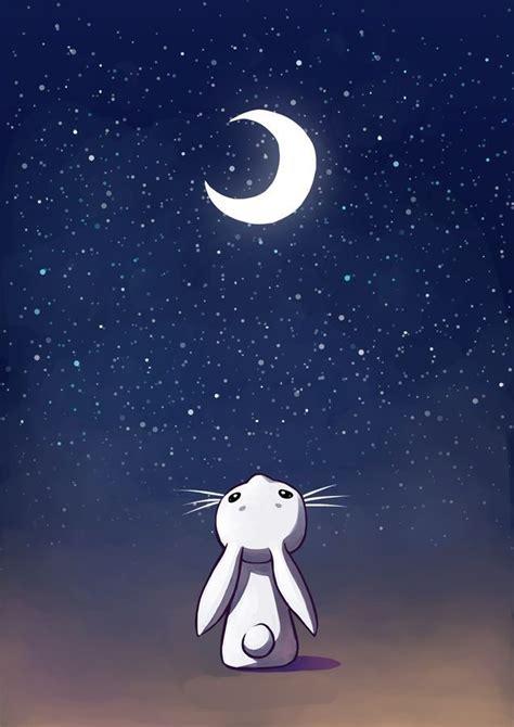 Kaos Bunny Sleep On Moon rabbit howling at the moon it