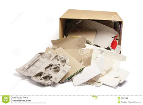 How To Make Waste Paper Products - waste paper products in cardboard box stock photography